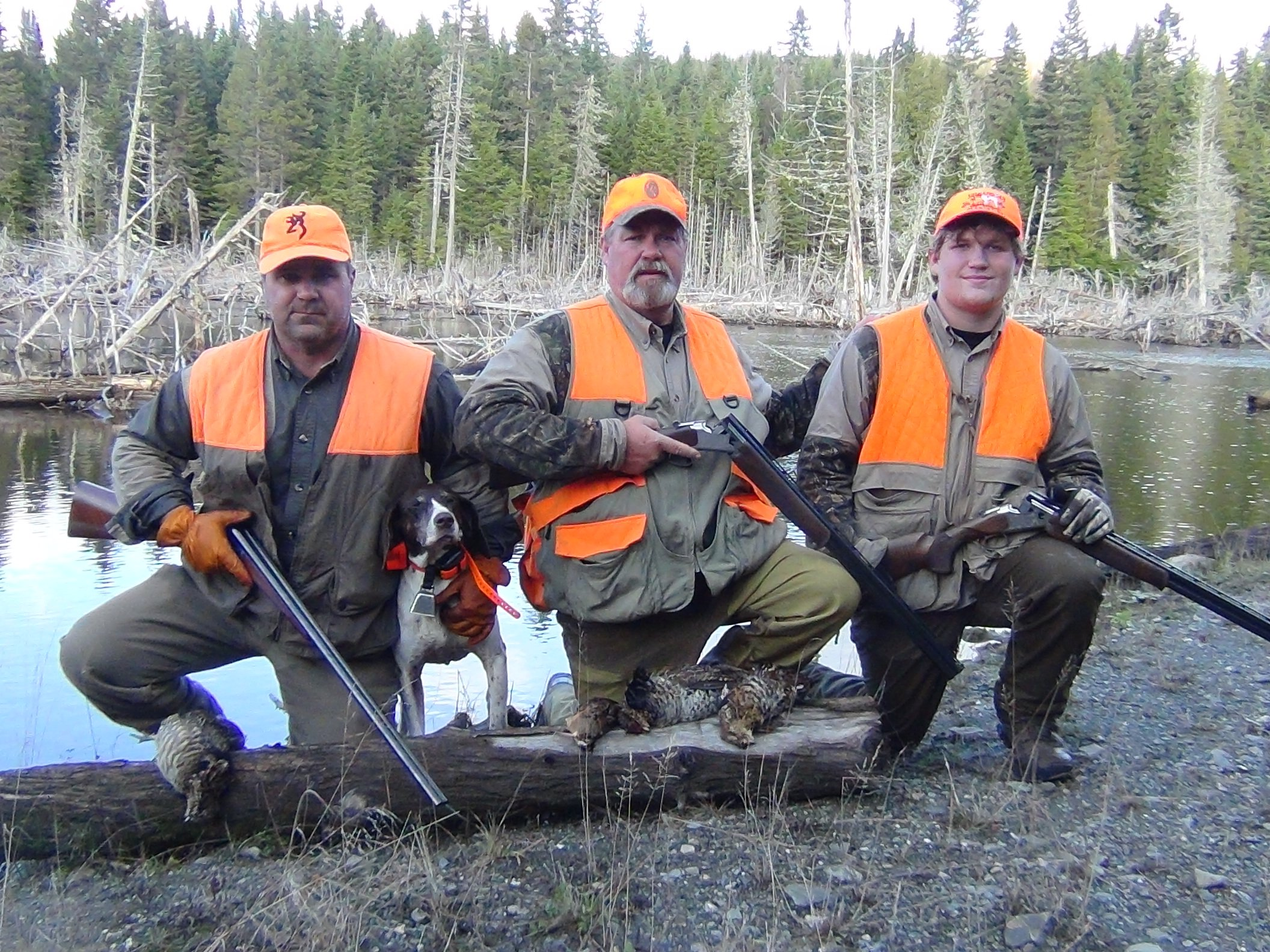 Maine grouse hunting photo gallery allagash guide service for Maine fishing guide