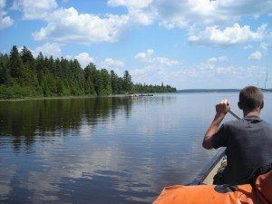 Canoeing through the Allagash River