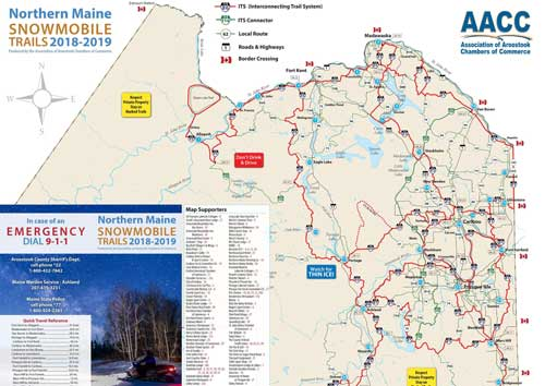 Northern Maine Snowmobile Trail Map 2019