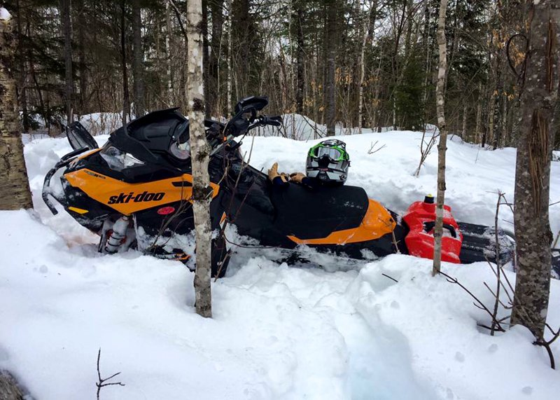 Maine Backcountry snowmobiling